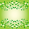 Vector clipart: Card with flowers and leaves