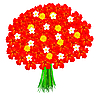 Vector clipart: Bouquet of red flowers
