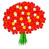 Векторный клипарт: букет красных цветов