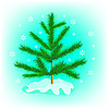 Vector clipart: Small firtree in winter