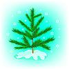 Векторный клипарт: маленькая елочка