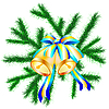 Vector clipart: Fur branches with bells