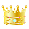 Vector clipart: Gold crown