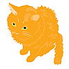 Vector clipart: red cat