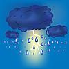 Vector clipart: Thundercloud with rain