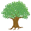 Vector clipart: tree with green leaves