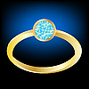 Gilded ring with diamond   Stock Vector Graphics