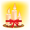 Vector clipart: Festive burning candles