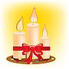 Festive burning candles