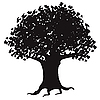 Vector clipart: Silhouette of tree
