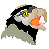 Vector clipart: Head of an eagle