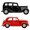 Black and red cars   Stock Vector Graphics