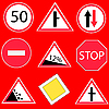 Vector clipart: Traffic signs
