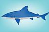 Vector clipart: blue shark