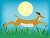 Бегущая антилопа | Векторный клипарт