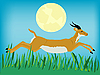 Running antelope | Stock Vector Graphics