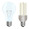 Vector clipart: Two electric light bulbs
