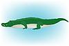 Vector clipart: crocodile