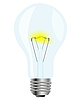 Vector clipart: Simple glass light bulb