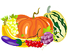 Vector clipart: Vegetables and fruits