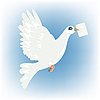 Vector clipart: Carrier pigeon with letter in beak