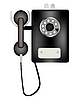 Vector clipart: Public telephone