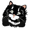 Ładny czarny kotek | Stock Vector Graphics