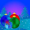 圣诞球 | 向量插图