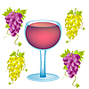 Vector clipart: Grapes and goblet