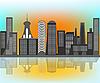 City skyline   Stock Vector Graphics
