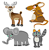 Animals set | Stock Vector Graphics