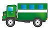Green cargo car | Stock Vector Graphics