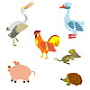 Vector clipart: Birds and other animals
