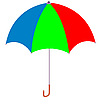 Vector clipart: Varicoloured umbrella
