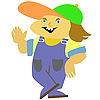 Vector clipart: person in worker suit