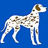 Vector clipart: dalmatian dog