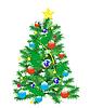 Vector clipart: Festive Christmas fir tree