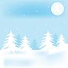 Vector clipart: Winter frest