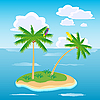 Island in ocean | Stock Vector Graphics