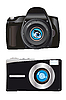 Zwei digitale Kameras | Stock Vektrografik