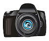Vector clipart: digital camera