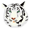Vector clipart: white tiger