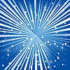 Векторный клипарт: Синий праздничный фон со звездами