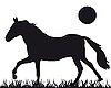 Vector clipart: silhouette of horse