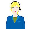 Vector clipart: Girl operator