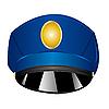 Векторный клипарт: полицейская фуражка