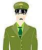 Vector clipart: Man in military uniform