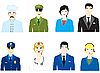 Vector clipart: people varied occupations