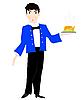 Waiter with dish