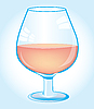 Vector clipart: Goblet with wine